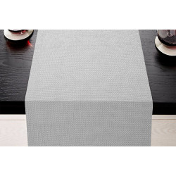 Lot de 5 chemins de table uni tissage natté polycoton - OPAL - 45 x 110 cm