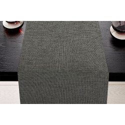Lot de 5 chemins de table 100% polyester chiné - TAGORE - 45 x 110 cm