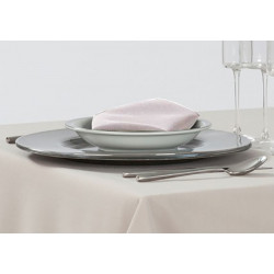12 serviettes de table polyester blanc - MILANO - 50x50 cm