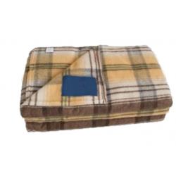 Couverture en laine et acrylique - CHEVREUSE - non feu