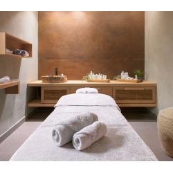 Linge de bain hôtel et spa blanc 100% coton | Qualité professionnelle