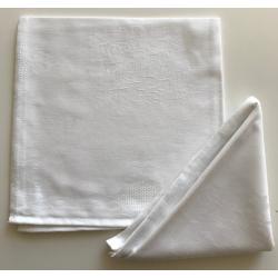 Lot de 10 Serviettes de table Raisin Blanc - Dimension (cm) 50x50