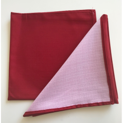 Lot de 10 Serviettes de table Linelys Bordeaux - Dimension (cm) 50x50