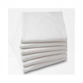 Lot de 10 Serviettes de table MEURSAULT - Satin de PolyCoton blanc - Dimension : (cm) 40x40