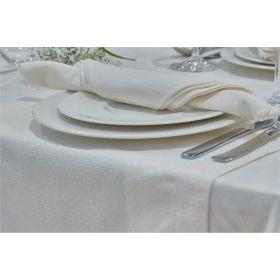 Nappe en polycoton faux uni jacquard TRIBECA - Dimension : 120x120 cm