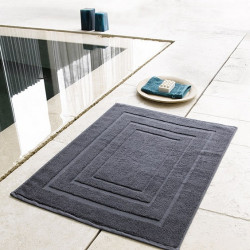 Tapis de bain intemporel & doux 100% coton cardé - PACIFIQUE -1000 gr/m²