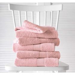 Kit de Linge de bain professionnel - HELENE - Rose