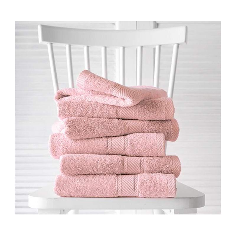 Kit de linge de toilette professionnel éponge 100% coton - Colori rose