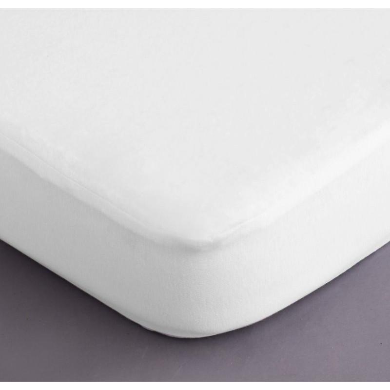 Protection de matelas forme drap housse 180x200 cm - Destockage