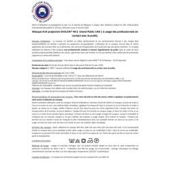 Masque tissu lavable homologué Grand Public UNS1 30 lavages - EVOLON