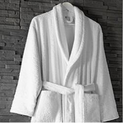 Peignoir hôtel et spa haut de gamme 100% coton peigné - EXCELLENCE - 480 gr/m²