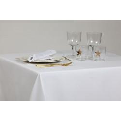 Nappe pour restaurant classique - 100% coton blanc - 150x150 cm