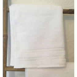 Linge de bain blanc 500g pour hôtel et spa - PROCLAS - Comptoir Textile Hôtelier