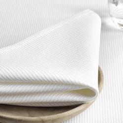 serviette-de-table-haut-de-gamme-coton-blanc-cotele