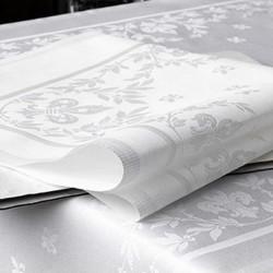 serviette-de-table-fleur-de-lys-blanc