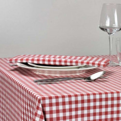 serviette-de-table-restaurant-carreaux-rouges