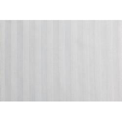 Housse de couette hôtellerie - BLOIS - Percale polycoton blanche rayée