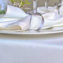 serviette-restaurant-luxe-lin-coton-sorrento-blanc