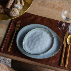 set-restaurant-cuir-marron