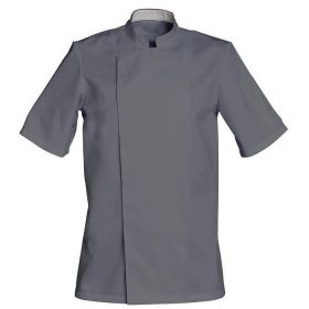 veste-cuisine-gris-mixte-manches-courtes