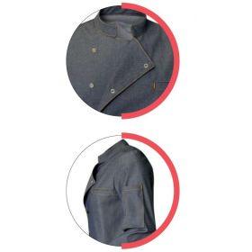 Veste de cuisine style jean mixte - SCOTT - Manches longues