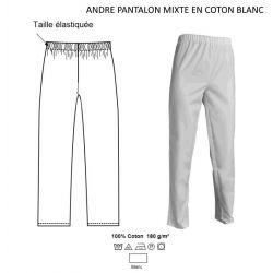 Pantalon de travail mixte 100% coton - ANDRE(E) - 180 gr/m²