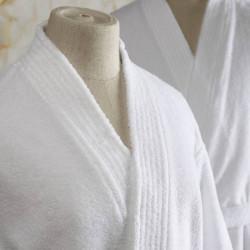 Peignoir hôtel et spa haut de gamme bimatière - BO - Comptoir Textile Hôtelier