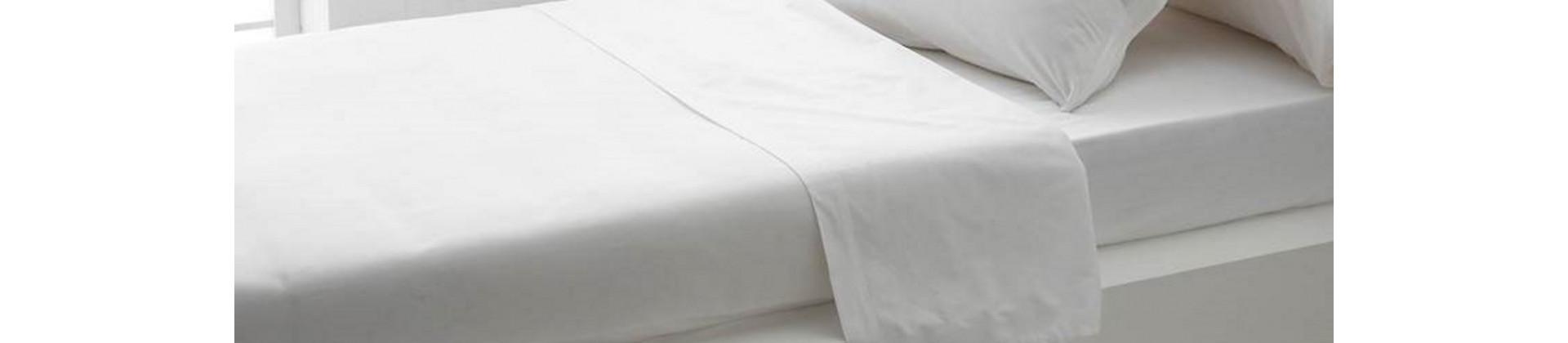 Linge de lit jacquard, opposé de satin, blanc et ivoire pour hôtels