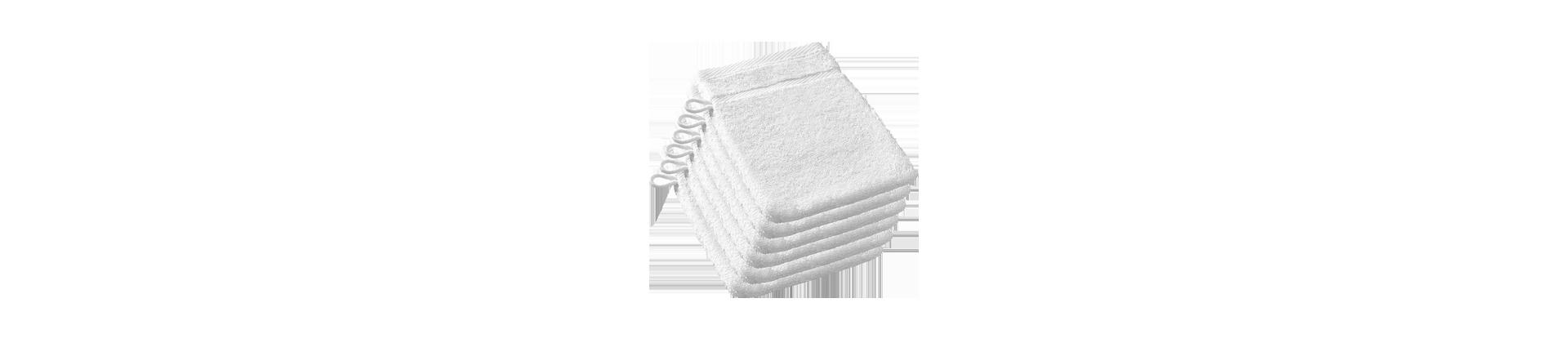 Gants et carrés de toilette pour établissements hôteliers