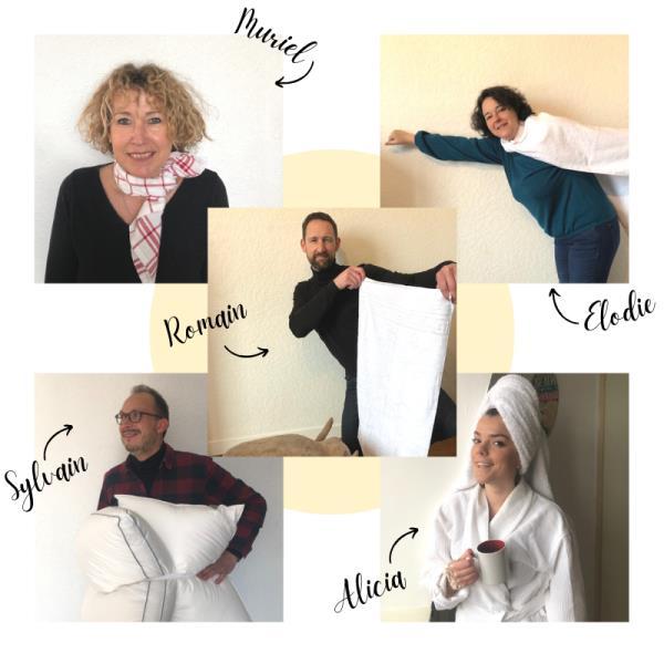 equipe comptoir textile hotelier